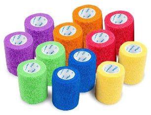 Bandaż elastyczny, samoprzylepny, jednorazowy SoftMed Mix kolorów 5cm/4,5m