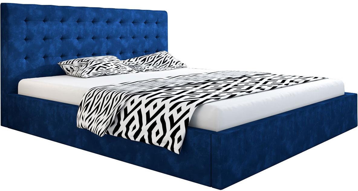 Dwuosobowe łóżko z zagłówkiem 160x200 Pikaro 2X - 48 kolorów