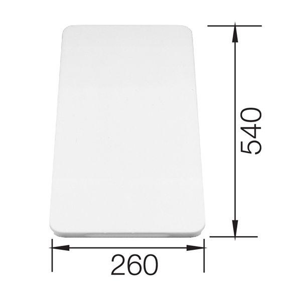 Blanco Deska z tworzywa biała 540x260 mm