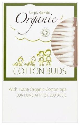 SIMPLY GENTLE Organiczne Patyczki Kosmetyczne do Uszu (200 szt)