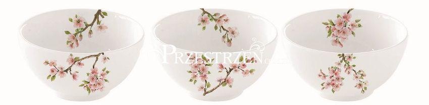 3 PORCELANOWE MISECZKI NA DIPY R2S - Sakura - Kwitnąca Wiśnia (1084 SAKU)