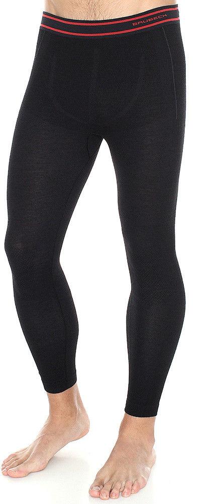 Termoaktywne getry męskie Brubeck Active Wool LE11710 black