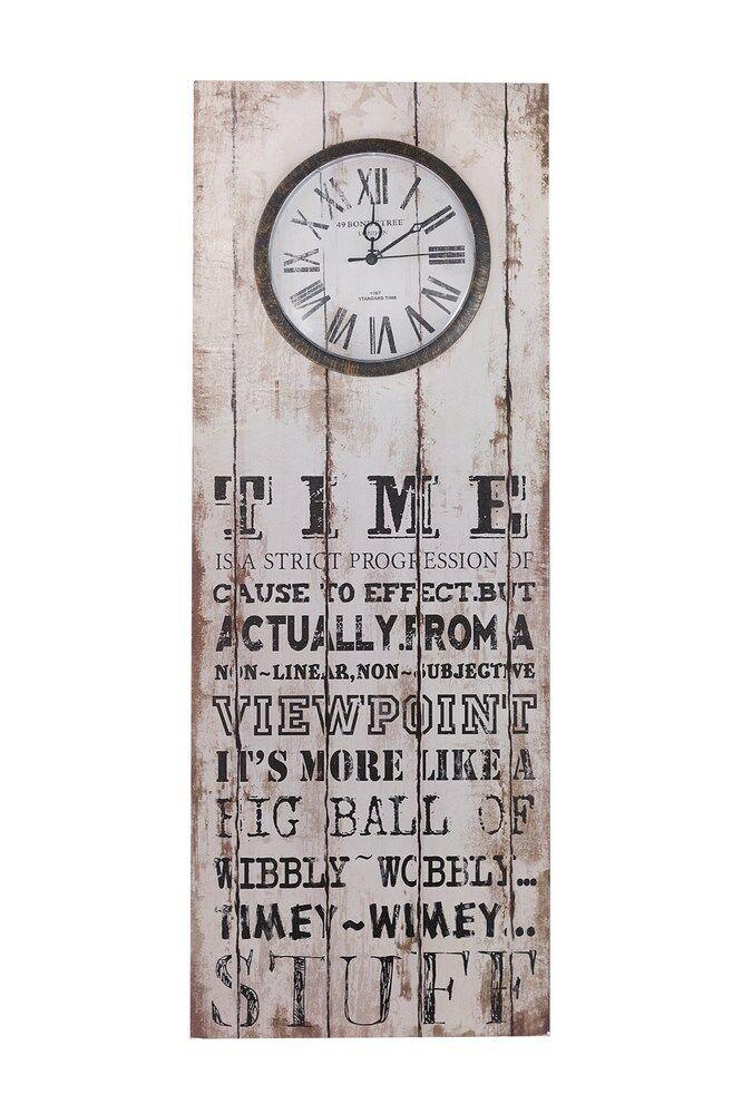 Zegar ścienny 30x3x80 Alex 01 deskopodobny Time Eurofirany