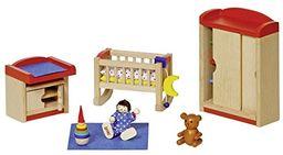 Goki 51905 - pokój dziecięcy, 12-częściowy, meble do domku dla lalek