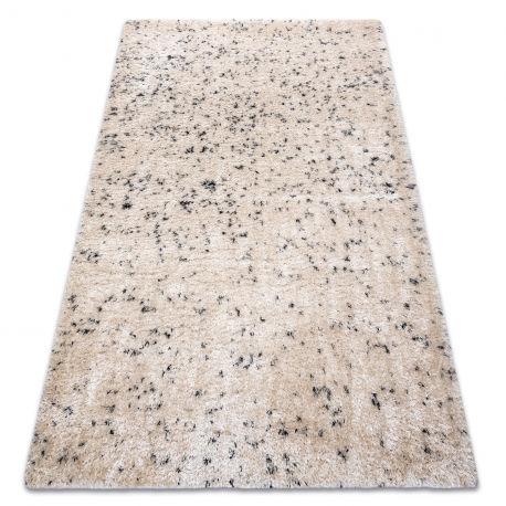 Dywan FLUFFY 2372 shaggy sól i pieprz - krem / antracyt 60x100 cm