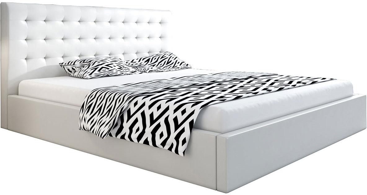 Podwójne łóżko z pojemnikiem 180x200 Pikaro 2X - 48 kolorów