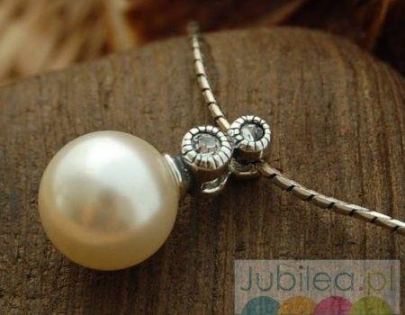 Chopin srebrny wisiorek z perłą