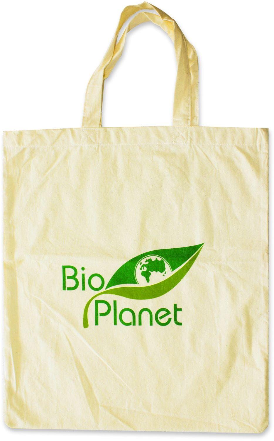Torba na zakupy bawełniana z logo bio planet