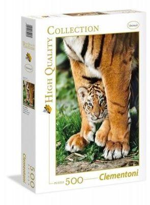 Clementoni Puzzle Gra High Quality 500 Elementów Tygrys Clementoni 5666-uniw