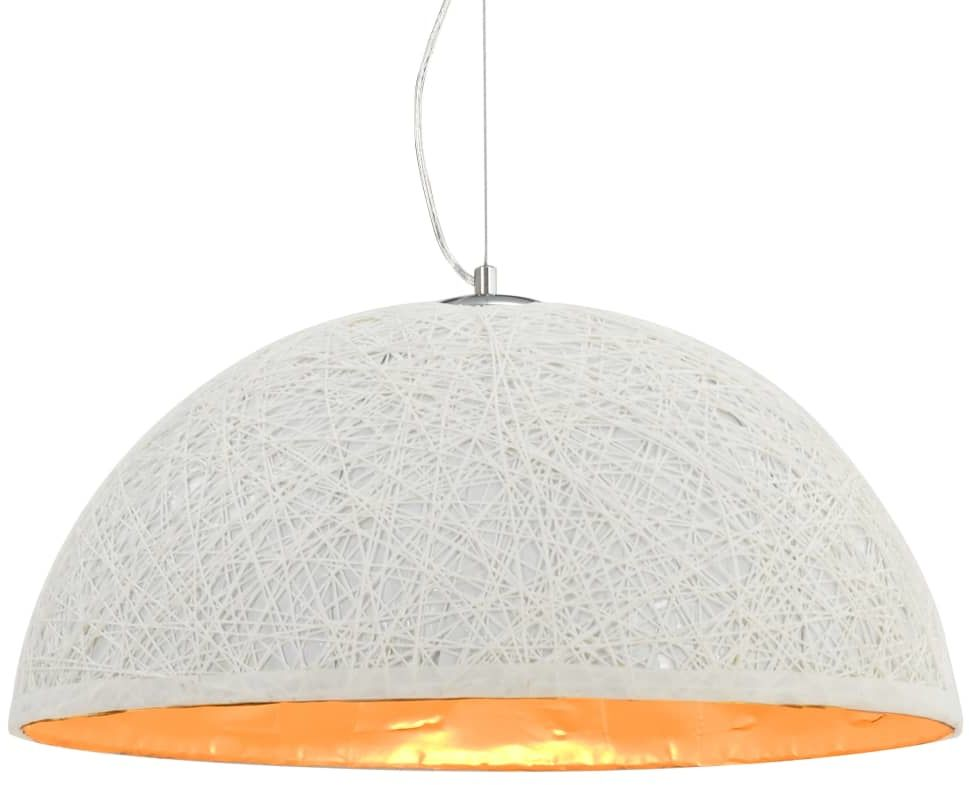 Biało-złota półokrągła lampa wisząca - EX110-Melita