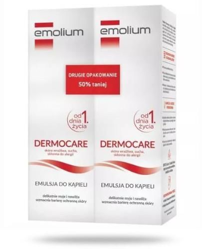 Emolium Dermocare emulsja do kąpieli od urodzenia 2x 400 ml [DWUPAK]