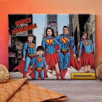 Super Rodzina - obraz na płótnie