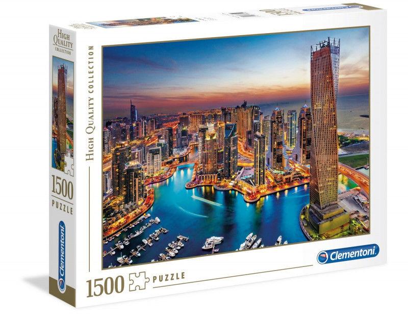 Clementoni Puzzle HQ 1500 Elementów Dubai Marina Clementoni 5673-uniw