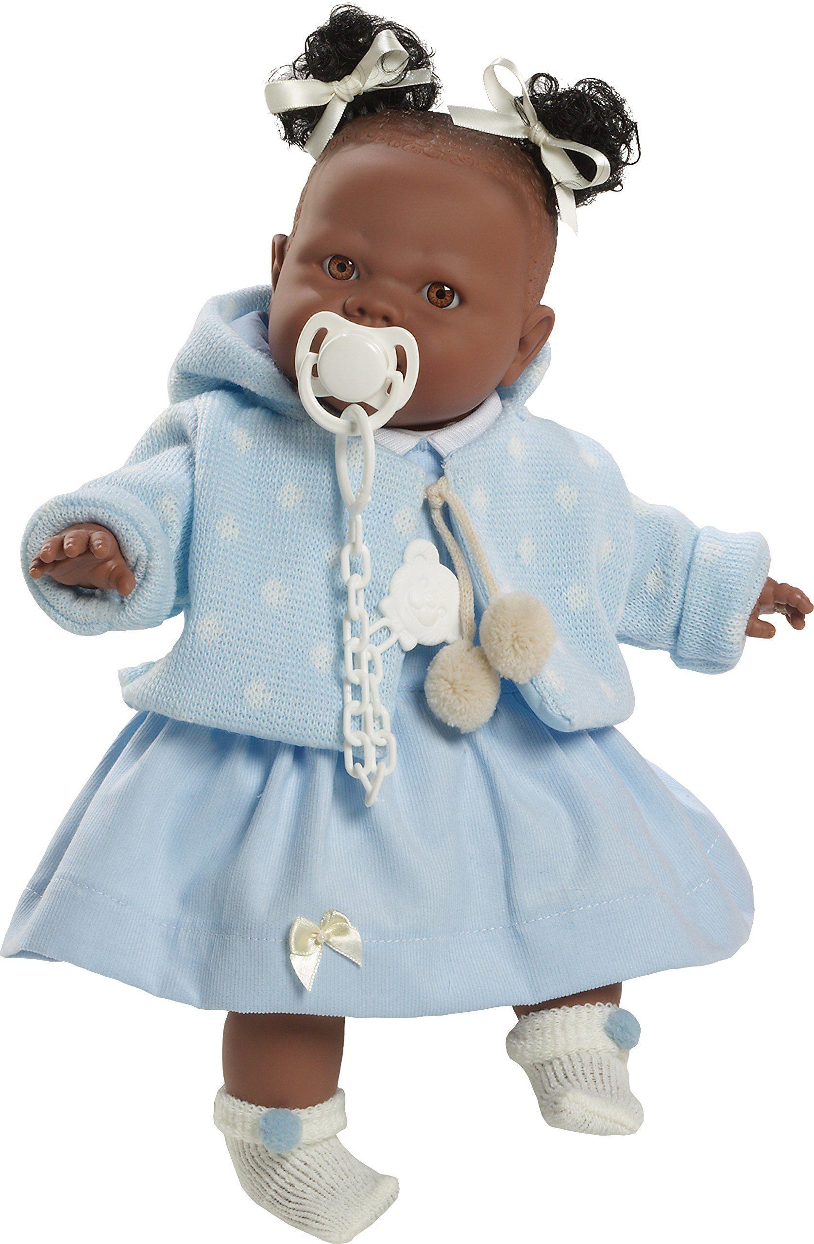 Berbesa 4353A Alicia lalka płacze, aby usunąć smoczek, 38 cm, wielokolorowa