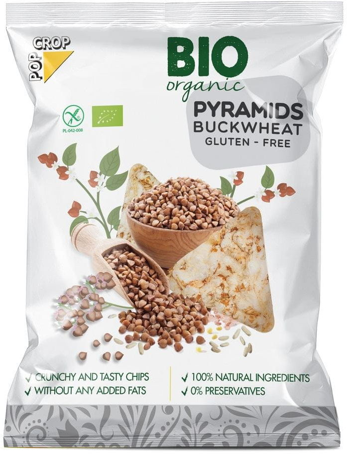 Piramidki gryczane bezglutenowe bio 25 g - popcrop