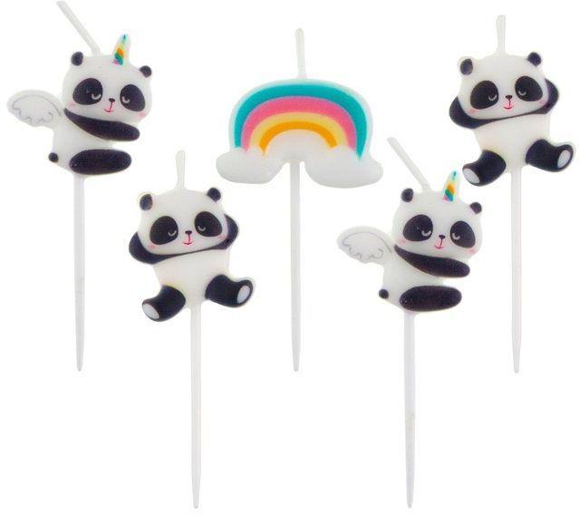 Świeczki urodzinowe Panda 5 sztuk SF-SPPA