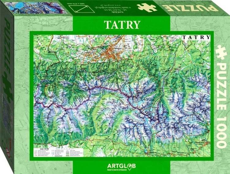 Puzzle 1000 - Tatry mapa turystyczna 1:50 000