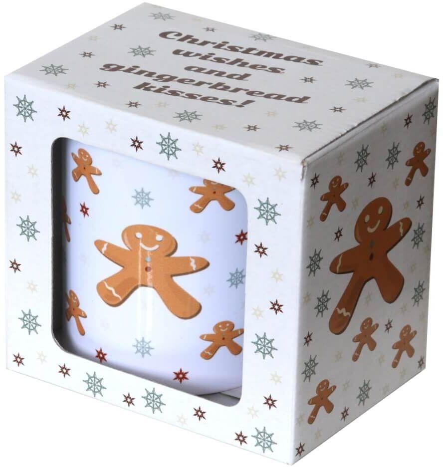 Świąteczny kubek GINGERBREAD MAN  prezent upominek na Boże Narodzenie, święta, na Mikołaja, zimowy podarunek