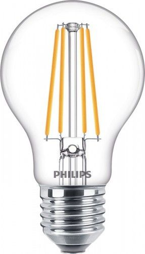 PHILIPS Żarówka LED A60 8W/827 75W 1055lm 2700K ciepła biała E27 filament szklana 8718699649081