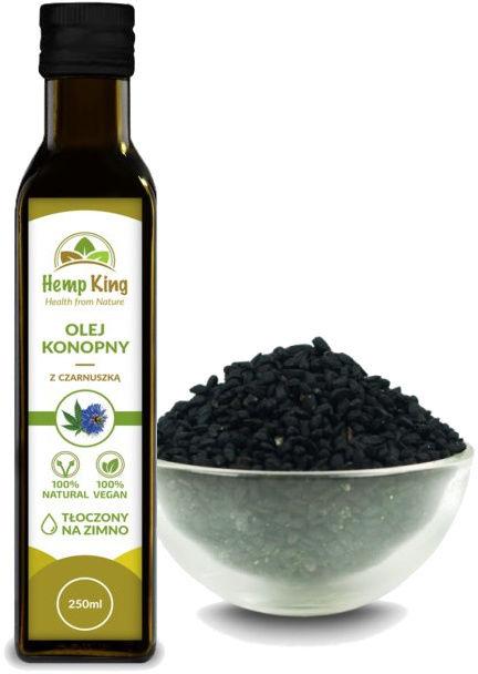 Olej konopny z czarnuszką - na alergie