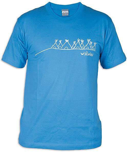 Tatonka Męski T-shirt Wichothi, french blue, L, C178_773