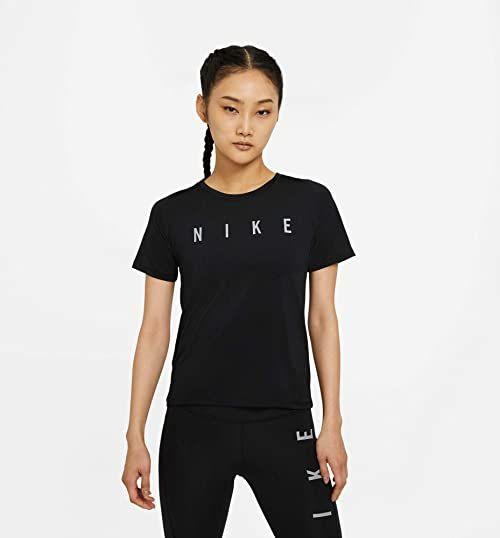Nike Run Dvn Miler t-shirt damski czarny/odblaskowy srebrny XS