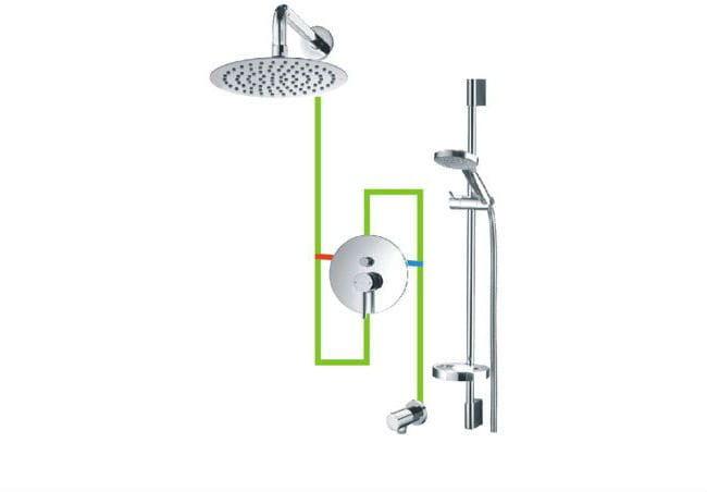 OMNIRES Kompletny łazienkowy system podtynkowy Y chrom SYSY17CR Y