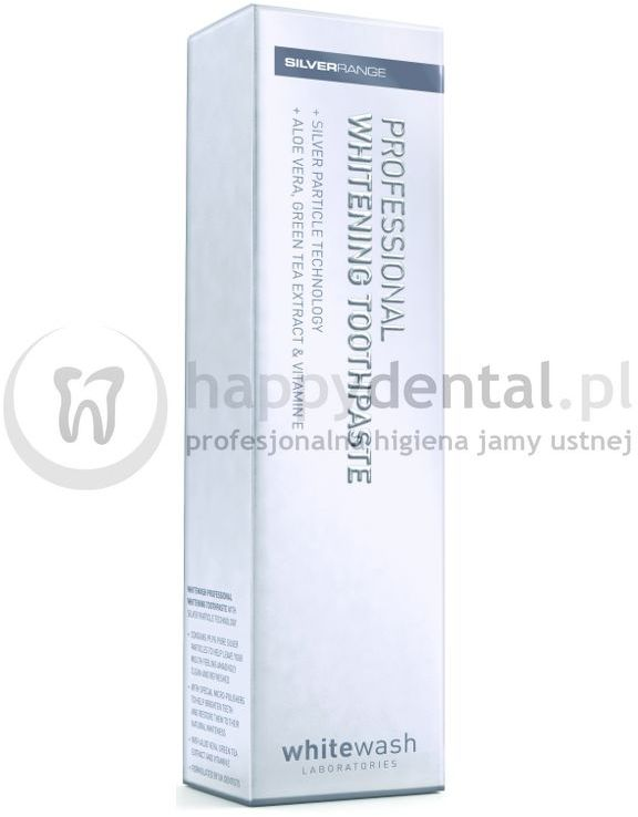 WHITEWASH Professional Whitening Toothpaste 125ml - wybielająca pasta do zębów z nano-cząsteczkami srebra
