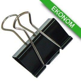 Klipy do dokumentów Office Products, 51mm, 12szt., czarne /18095119-05/ !dostępność 21-05-2021!