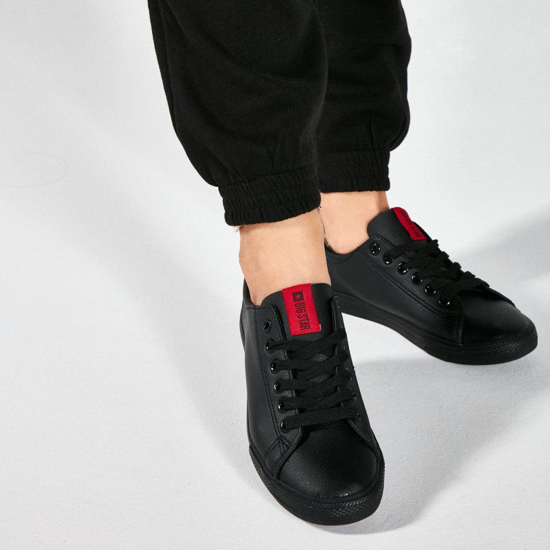 Sneakersy damskie czarne BIG STAR DD274687