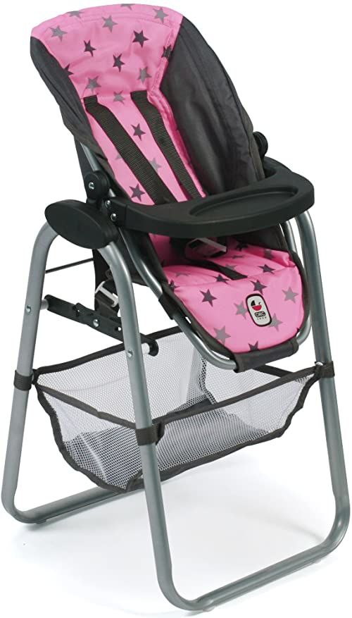 Bayer Chic 2000 655 83 wysokie krzesełko dla lalek, gwiazdy szare