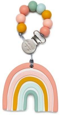 Loulou Lollipop - Gryzak Silikonowy z Zawieszką Pastel Rainbow