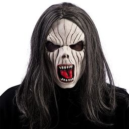 Carnival Toys 01417 - lateksowa maska wampir z włosami