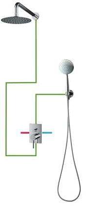 OMNIRES System podtynkowy, kompletny chrom SYSY23/KCR Y