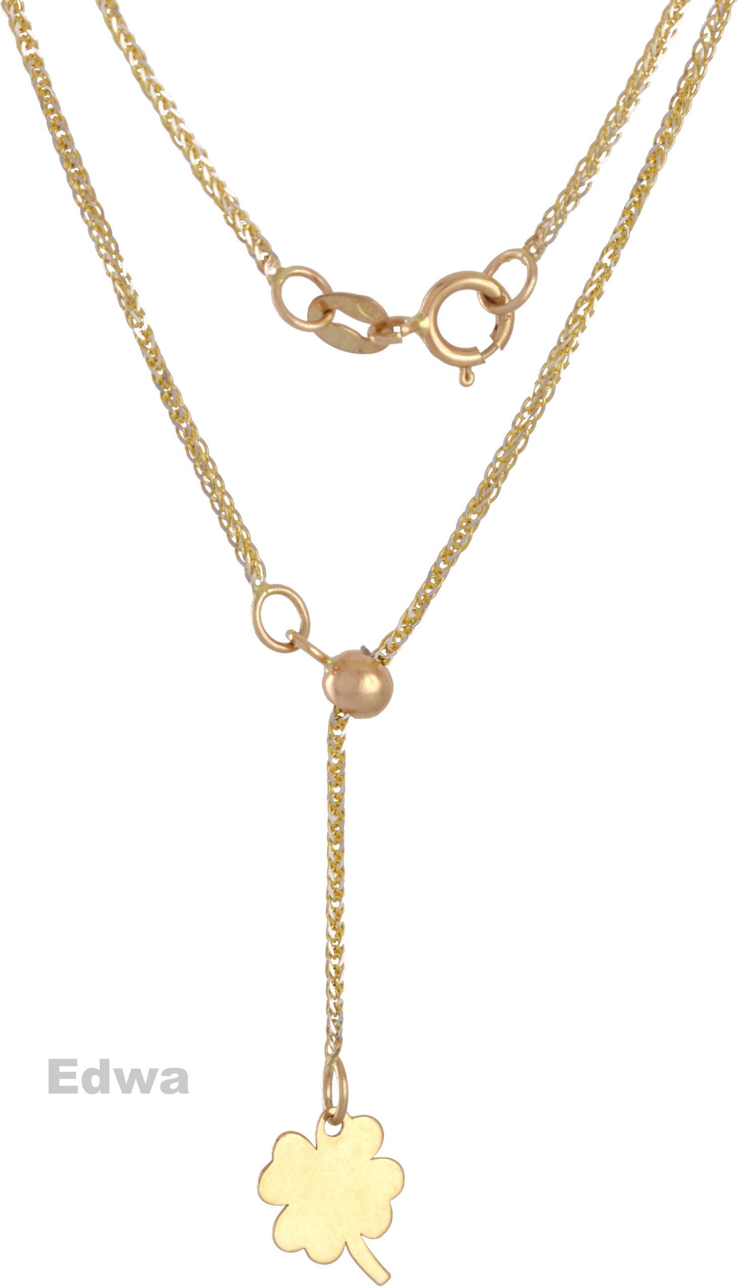 Łańcuszek złoty z koniczynką pr.585