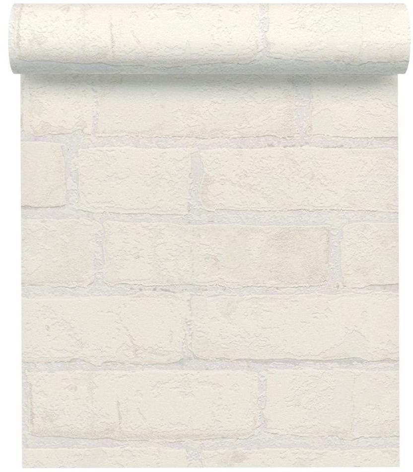 Tapeta CEGŁA biała imitacja cegły winylowa na flizelinie
