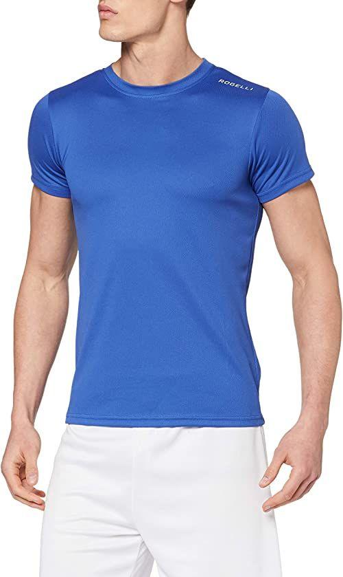 Rogelli Męski top z krótkim rękawem Promo, niebieski, XS