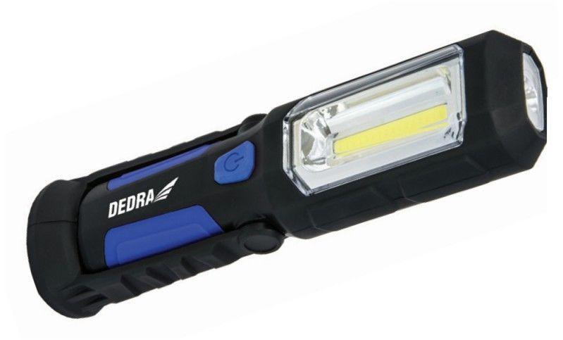 DEDRA Latarka akumulatorowa COB LED 3W + 1W LED L1022