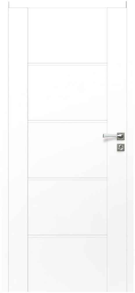 Skrzydło drzwiowe pełne bezprzylgowe Malibu White 80 Lewe Artens