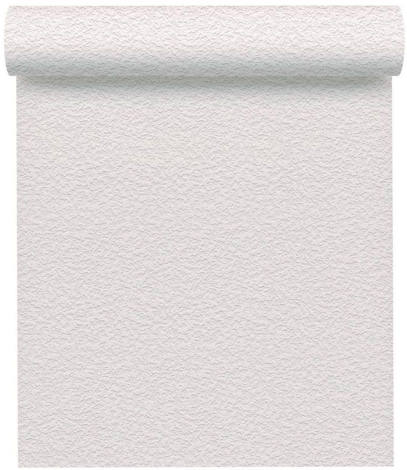 Tapeta jenobarwna biała papierowa