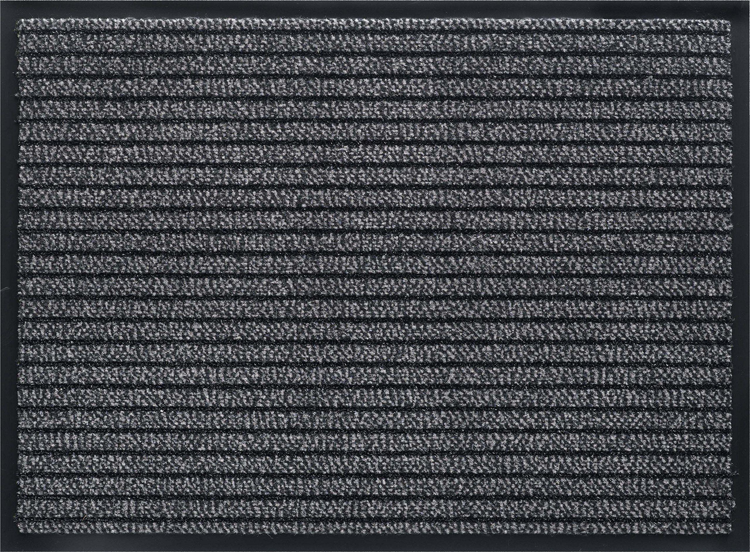 ID mat t 608002 gramat dywan wycieraczka włókno polipropylen/PVC szary 80 x 60 x 0,8 cm