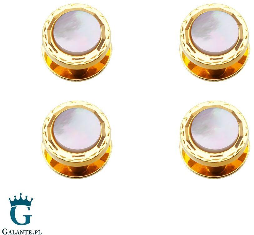 Guziki smokingowe z masą perłową ssd-5108 (4 guziki)