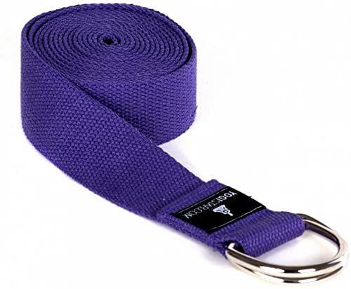 Yogistar Pasek do jogi - 260 cm - metalowe zamknięcie - fioletowy
