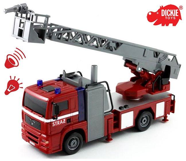 DICKIE SOS Straż pożarna City Fire Engine Światła Dźwięk Woda LK