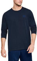 Under Armour Męska koszulka z długim rękawem z lewym biustem Akademia/Królewska XL