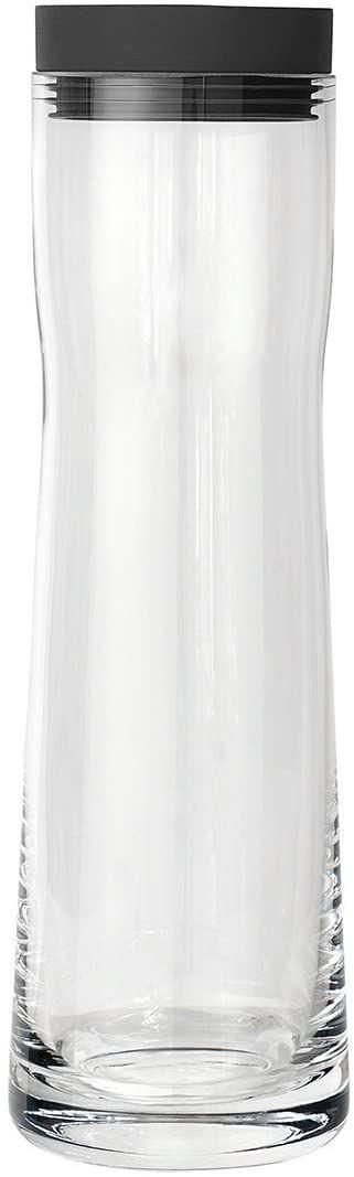 Blomus Splash karafka na wodę z magnesem  szklana karafka z pokrywką z polerowanej stali nierdzewnej i silikonu