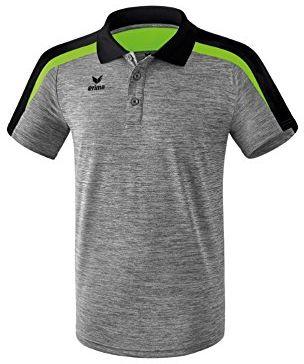 Erima 116 dziecięca koszulka polo, szary melanż/czarny/zielony gekon