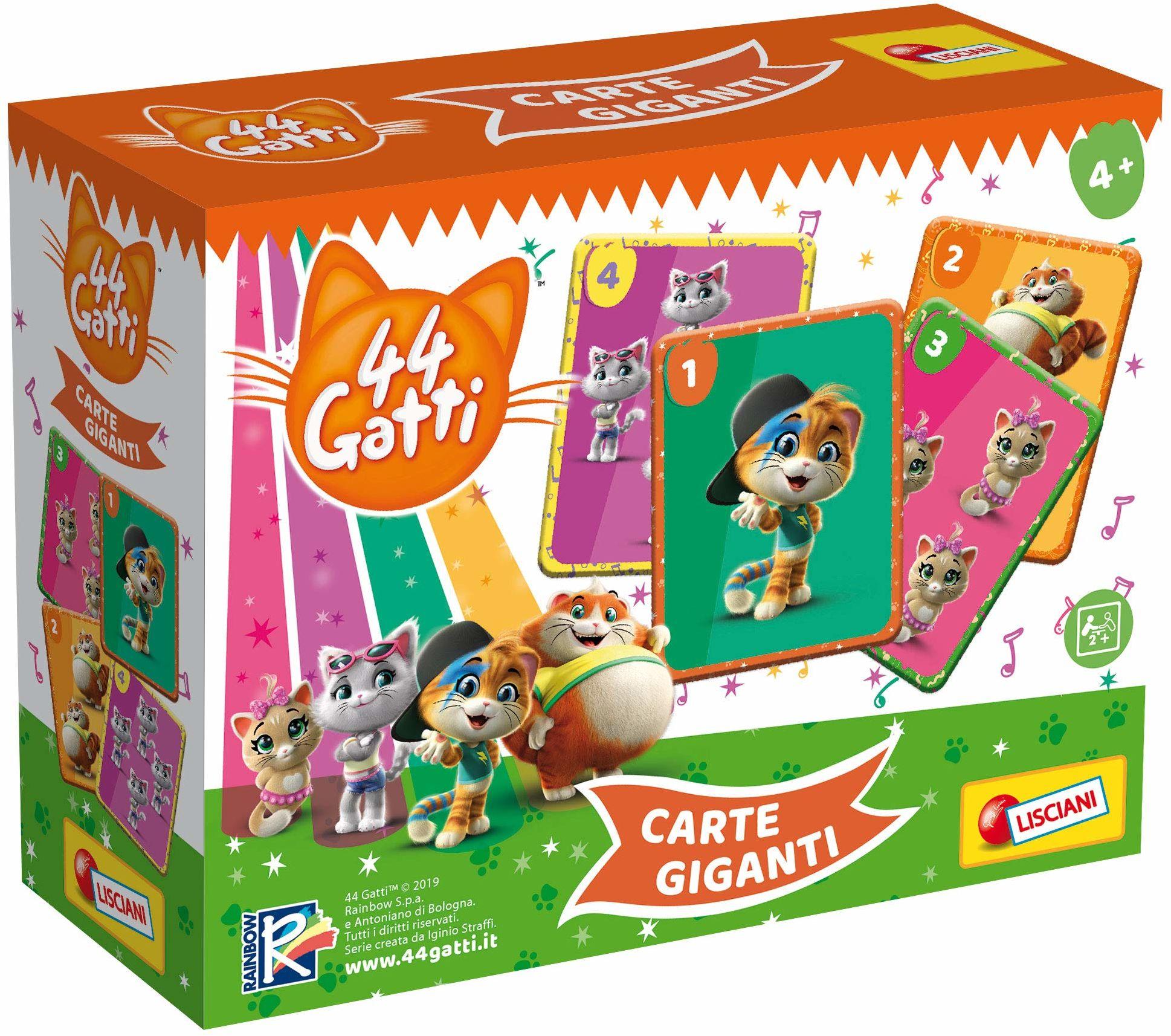 Lisciani Giochi, 76246, 44 koty, duże karty