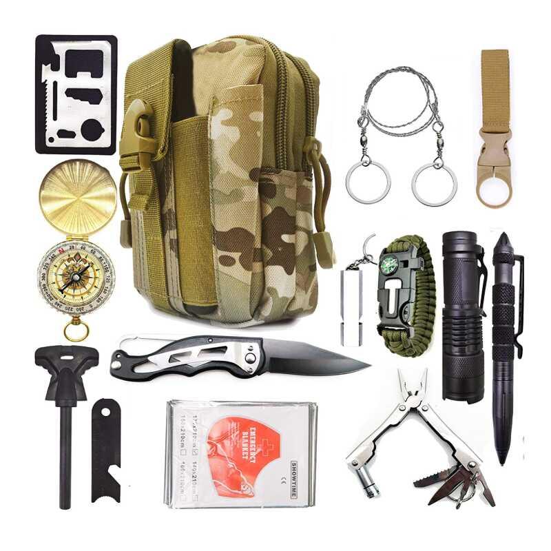 ZESTAW SURVIVALOWY PRZETRWANIA 13W1 SURVIVAL BAG ZS-1
