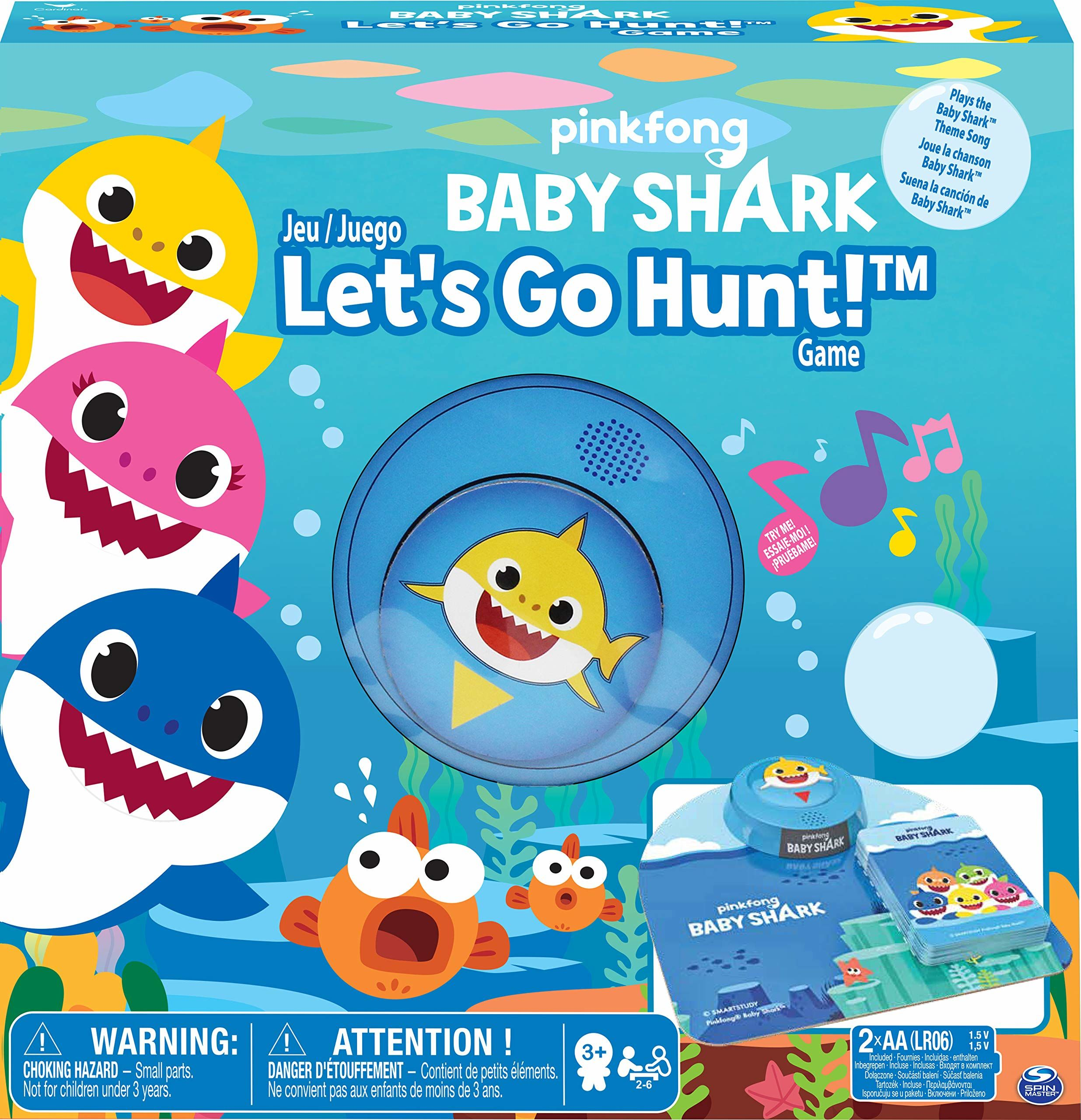 Cardinal Games 605959 Baby Shark Lets Go Hunt Game, wielokolorowe